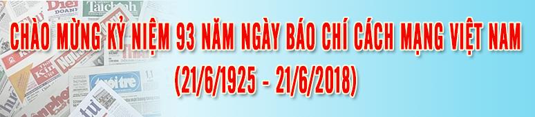 Chào mừng kỷ niệm 93 năm ngày báo chí Cách mạng Việt Nam