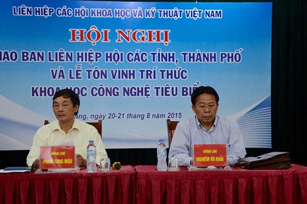 Ông Phan Tùng Mậu và ông Nghiêm Vũ Khải – PCT LHHVN
