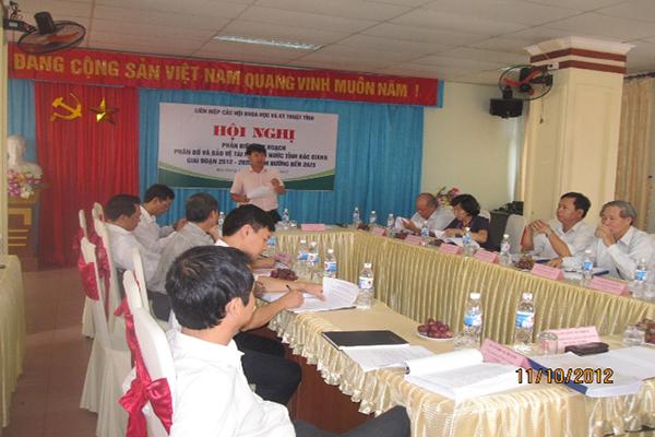 """Bắc Giang: Liên hiệp hội phản biện """"Quy hoạch phân bổ và bảo vệ tài nguyên nước tỉnh Bắc Giang giai đoạn 2012-2020 định hướng đế"""