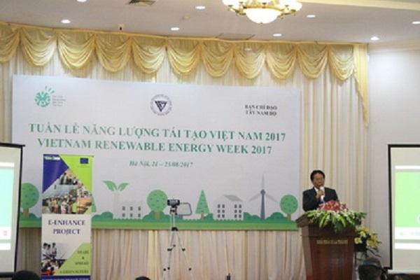 Ông Nghiêm Vũ Khải – PCT LHHVN phát biểu tại Tuần lễ Năng lượng tái tạo Việt Nam 2017, Lễ ra mắt dự án