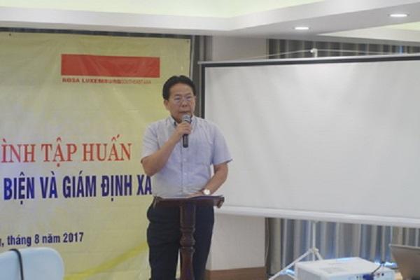 Ông Nghiêm Vũ Khải - Phó Chủ tịch LHHVN phát biểu khai mạc