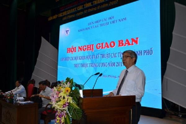 Ông Đặng Vũ Minh – Chủ tịch LHHVN phát biểu khai mạc hội nghị