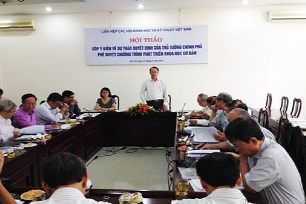 Góp ý kiến về dự thảo Quyết định của Thủ tướng phê duyệt Chương trình phát triển khoa học cơ bản