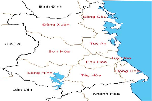 Bản đồ tỉnh phú yên