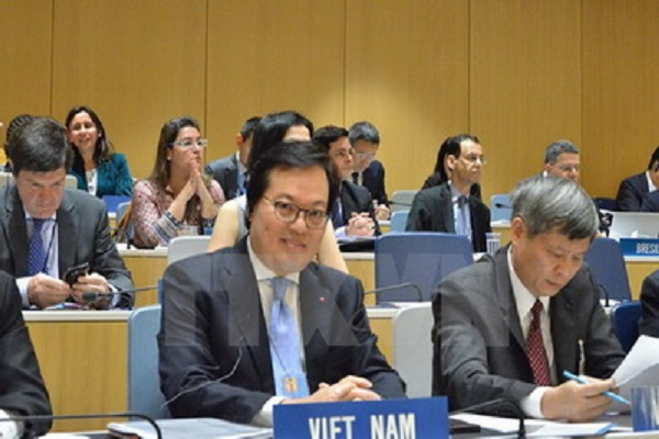 Đại sứ Dương Chí Dũng tại cuộc họp Đại Hội đồng Tổ chức Sở hữu trí tuệ thế giới (WIPO) - Ảnh: TTXVN