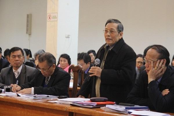 Ông Nguyễn Văn Yểu phát biểu tại hội thảo khoa học góp ý dự thảo sửa đổi Hiến pháp 1992. Ảnh - Ngọc Quang.