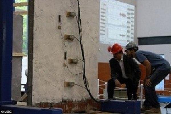 """Phun sơn """"siêu bê tông"""" bảo vệ các tòa nhà chống động đất"""