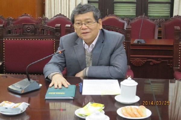 Tiến sĩ Vũ Ngọc Hoàng- UVTW Đảng, Phó Trưởng ban Thường trực BanTuyên giáo Trung ương, kiêm Phó Chủ tịch Liên hiệp các Hội KH&KT Việt Nam. - Ảnh: