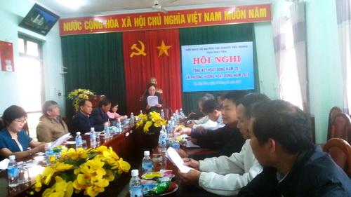 Bà Tô Thị Hòa – Chủ tịch Hội phát biểu khai mạc Hội nghị và báo cáo tổng kết hoạt động Hội năm 2017.