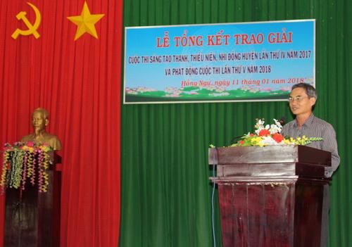 Ông Bùi Hữu Soi, Phó Chủ tịch Liên hiệp Hội phát biểu tại buổi tổng kết