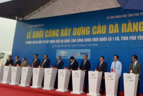 Phú Yên: Khởi công Dự án đầu tư xây dựng cầu Đà Rằng