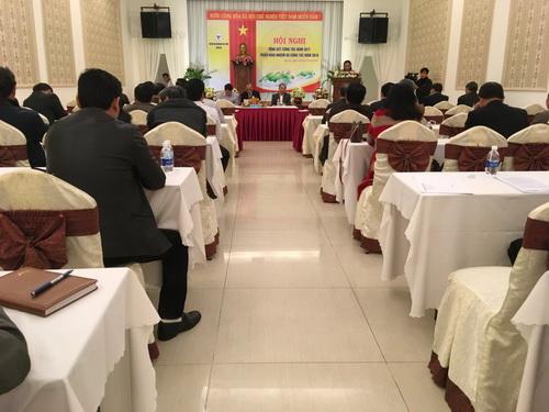 Bà Huỳnh Nữ Thu Hà, Thường vụ Tỉnh ủy, Phó Chủ tịch UBND tỉnh Gia Lai phát biếu tại Hội nghị.