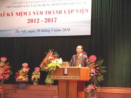 TS. Phạm Văn Tân, Phó Chủ tịch kiêm Tổng Thư ký Liên hiệp Hội Việt Nam phát biểu tại Lễ kỷ niệm