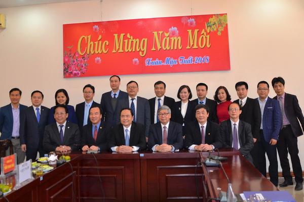 Chủ tịch Mặt trận Tổ quốc Việt Nam Trần Thanh Mẫn thăm và chúc tết Liên hiệp Hội Việt Nam
