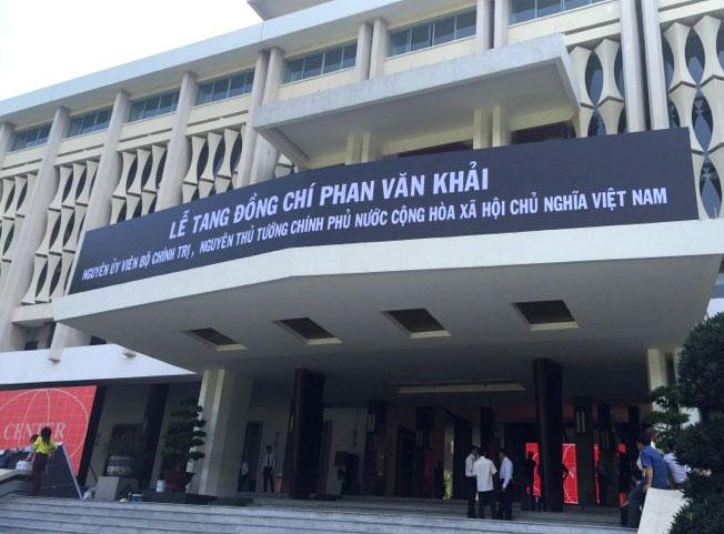 Di quan linh cữu nguyên Thủ tướng Phan Văn Khải