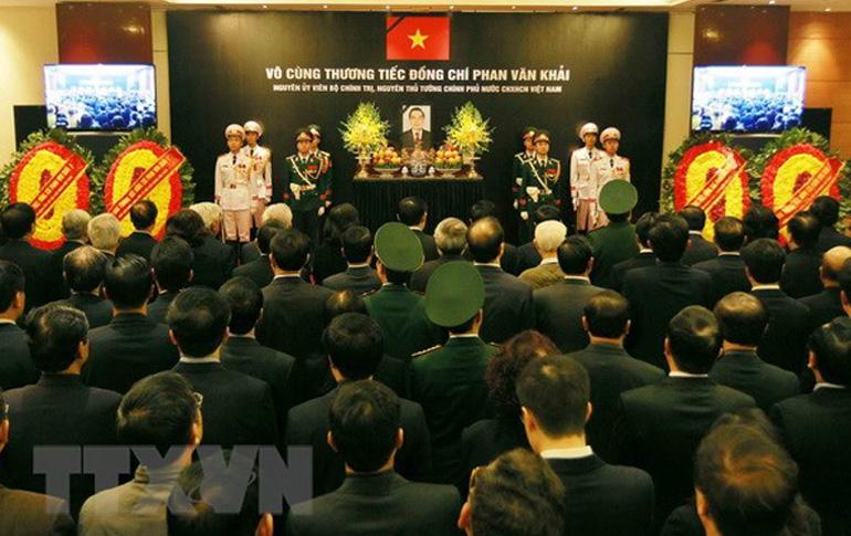 Tổ chức trọng thể Lễ tang nguyên Thủ tướng Phan Văn Khải