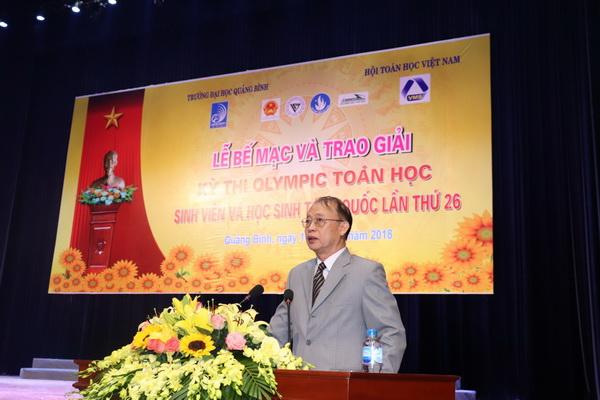 Lãnh đạo Liên hiệp Hội Việt Nam tặng bằng khen cho 40 sinh viên đạt giải Nhất kỳ thi Olympic Toán học sinh viên toàn quốc lần th