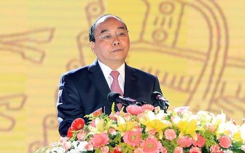 Thủ tướng Nguyễn Xuân Phúc phát biểu tại buổi lễ - Ảnh: TTXVN