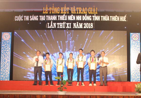 Thừa Thiên Huế: Trao giải Cuộc thi Sáng tạo Thanh thiếu niên, Nhi đồng