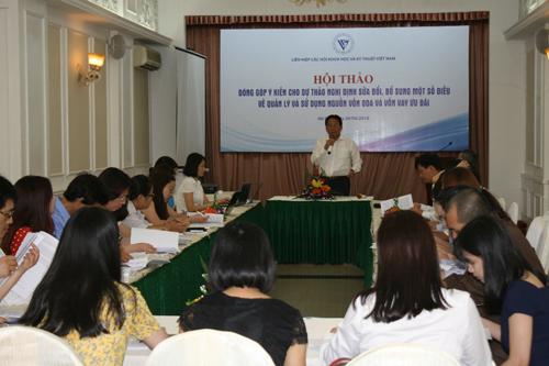 Liên hiệp Hội Việt Nam đóng góp ý kiến cho Nghị định sửa đổi về quản lý và sử dụng nguồn vốn ODA và vốn vay ưu đãi
