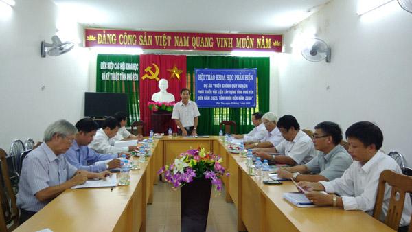 Th.S Nguyễn Hoài Sơn – Chủ tịch Liên hiệp Hội – Phát biểu khai mạc Hội thảo