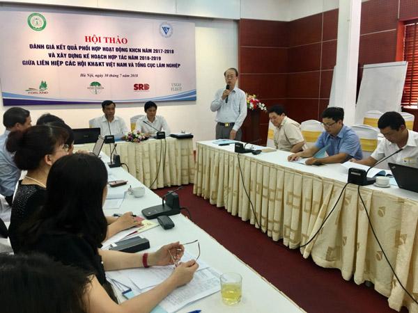 Đánh gia kết quả phối hợp giữa Liên hiệp Hội Việt Nam và Tổng cục Lâm nghiệp