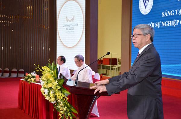 Chủ tịch LHHVN – Chủ tịch Quỹ Vifotec, ông Đặng Vũ Minh phát biểu khai mạc hội thảo