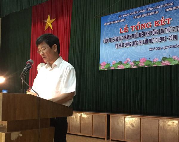 Đồng chí Lương Văn Cầu Phó Chủ tịch UBND tỉnh Hải Dương phát động Cuộc thi lần thứ 13 (2018 2019)
