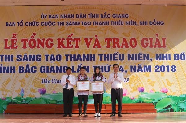 Bắc Giang: Trao giải Cuộc thi sáng tạo thanh thiếu niên nhi đồng lần thứ 14