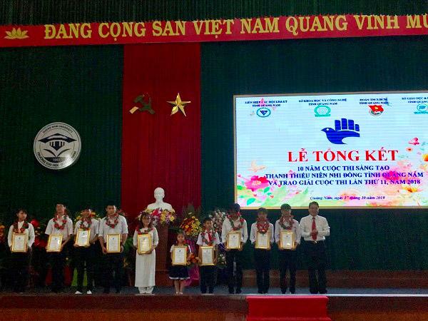 Quảng Nam: Tổng kết 10 năm triển khai Cuộc thi Sáng tạo thanh thiếu niên, nhi đồng