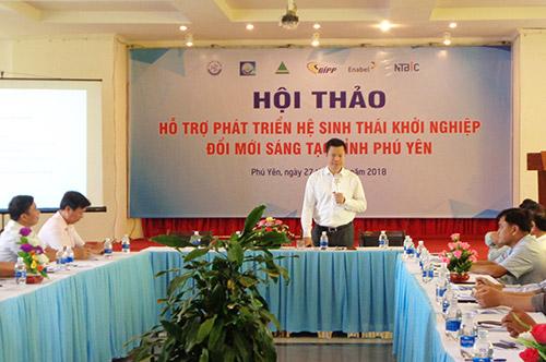 Ông Trần Đắc Hiến, Cục trưởng Cục Thông tin KH&CN Quốc gia, Giám đốc Dự án BIPP phát biểu tại Hội thảo