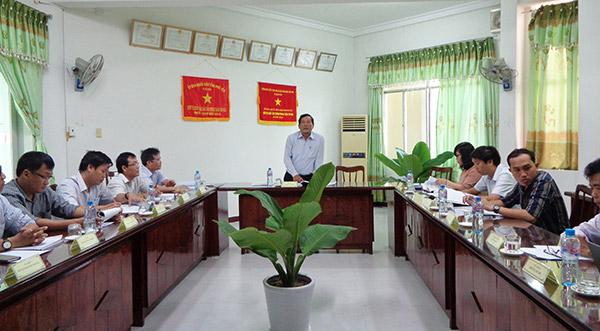 Giám đốc Sở KH&CN Phú Yên, ThS. Lê Văn Cựu phát biểu tại Hội đồng