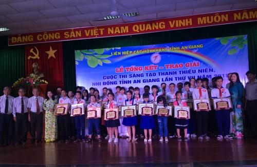 An Giang: Trao giải Cuộc thi Sáng tạo thanh thiếu niên, nhi đồng