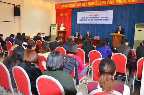Hội nghị cán bộ, viên chức và tổng kết hoạt động cơ quan Liên hiệp Hội năm 2018