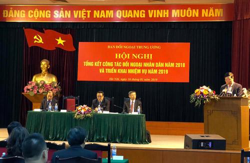 Liên hiệp các Hội KH&KT Việt Nam và các hội thành viên tích cực đóng góp trong thành tựu đối ngoại nhân dân năm 2018