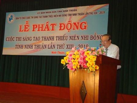 """Ninh Thuận: Phát động Cuộc thi """"Sáng tạo thanh thiếu niên, nhi đồng tỉnh lần thứ XIII"""