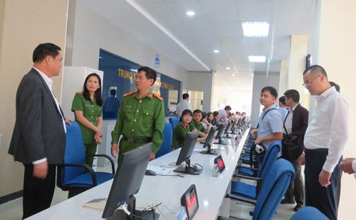 Lãnh đạo tỉnh kiểm tra công tác chuẩn bị thành lập Trung tâm Phục vụ hành chính công tỉnh