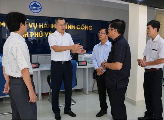 Chủ tịch UBND tỉnh kiểm tra tình hình hoạt động của Trung tâm Phục vụ hành chính công tỉnh