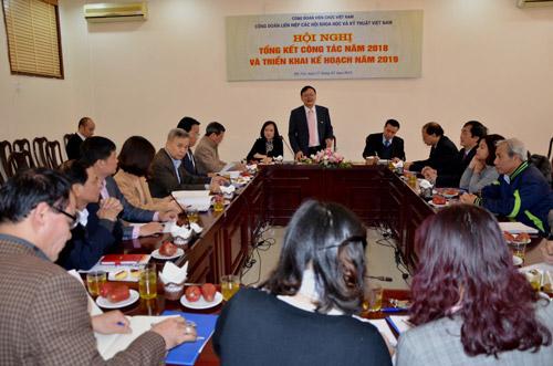 Đánh giá kết quả hoạt động 2018 và triển khai nhiệm vụ năm 2019 của Công đoàn Liên hiệp Hội Việt Nam