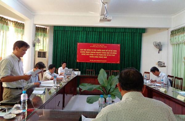 Hội đồng tư vấn thẩm định theo Quyết định số 96/QĐ-SKHCN ngày 22/5/2019 của Sở KH&CN Phú Yên