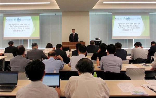 Đồng chí Chủ tịch UBND tỉnh Phạm Đại Dương phát biểu tại Hội nghị xúc tiến đầu tư ở Tokyo (Nhật Bản)