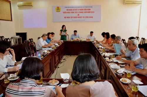 Hội nghị sơ kết hoạt động 6 tháng đầu năm của Công đoàn Liên hiệp Hội Việt Nam