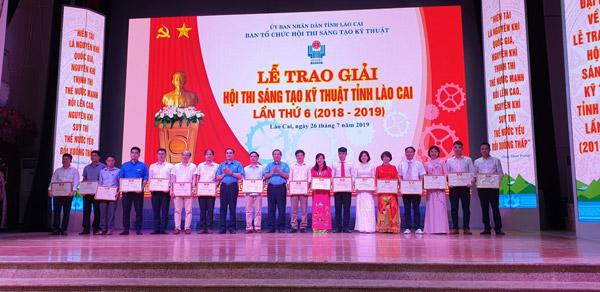 Lễ tổng kết và trao giải Hội thi sáng tạo kỹ thuật Tỉnh Lào Cai lần thứ 6