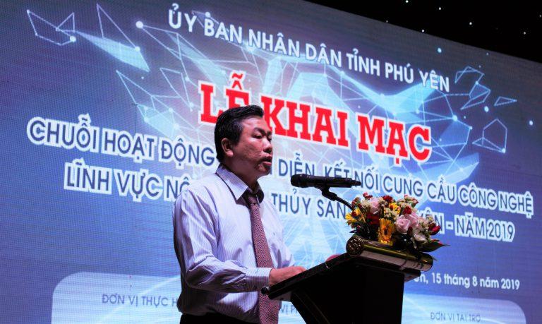 Đồng chí Trần Hữu Thế, Ủy viên Ban Thường vụ Tỉnh ủy, Phó Chủ tịch UBND tỉnh phát biểu khai mạc