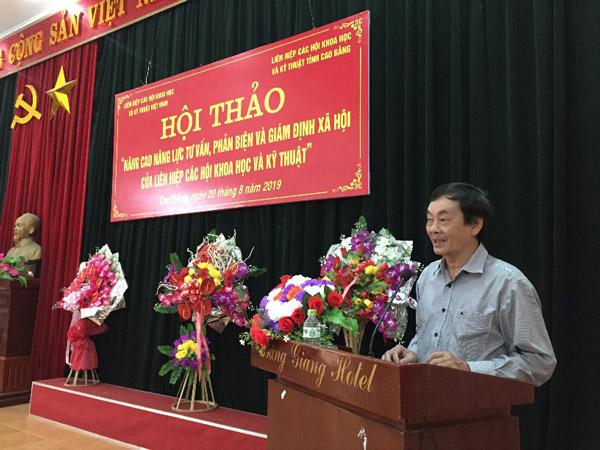 TS Phan Tùng Mậu PCT LHHVN phát biểu tại Hội thảo