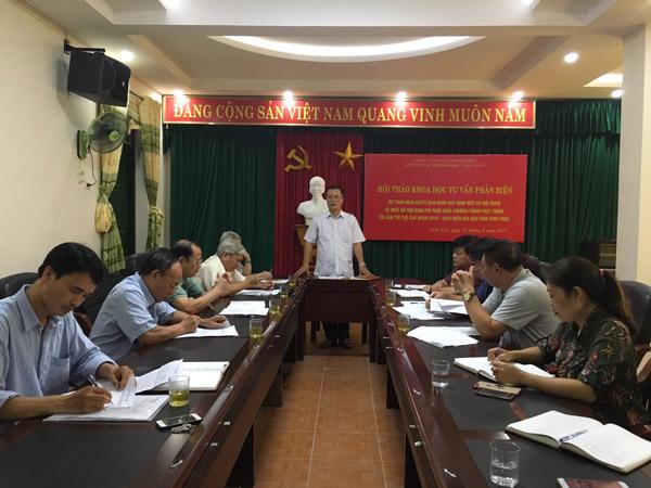 Vĩnh Phúc: Phản biện Dự thảo Hỗ trợ kinh phí thực hiện phát triển tài sản trí tuệ