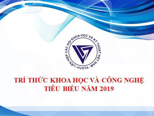 Danh sách trí thức khoa học và công nghệ tiêu biểu năm 2019