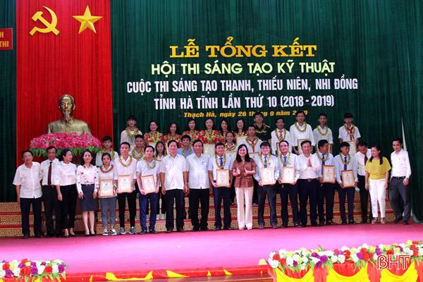 Hà Tĩnh: Tổng kết, trao thưởng Hội thi Sáng tạo kỹ thuật và Cuộc thi Sáng tạo dành cho thanh thiếu niên, nhi đồng Hà Tĩnh lần thứ 10 (2018 - 2019)