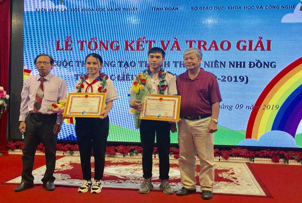Bạc Liêu: Trao giải Cuộc thi Sáng tạo thanh thiếu niên, nhi đồng lần V