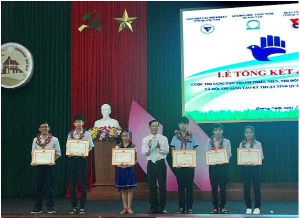 Quảng Nam: Trao giải Hội thi và Cuộc thi Sáng tạo kỹ thuật tạo thanh thiếu niên, nhi đồng